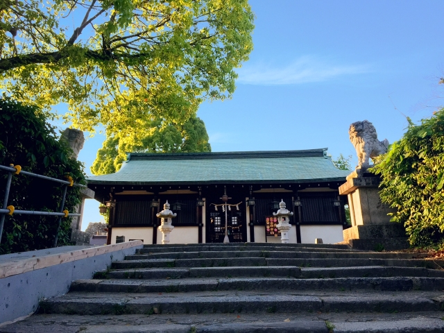 奈良郡山城跡柳沢神社