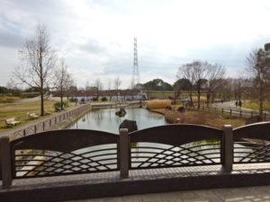 深北緑地公園内の川