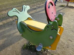 東地区のオットセイ形木馬