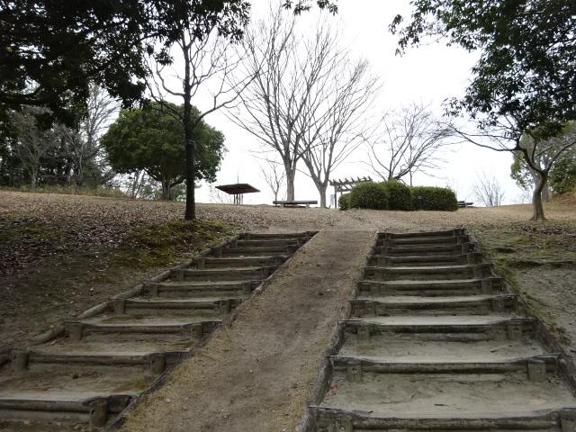 展望広場へといく階段