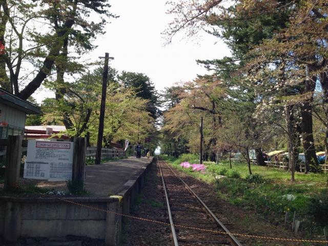 芦野公園の線路
