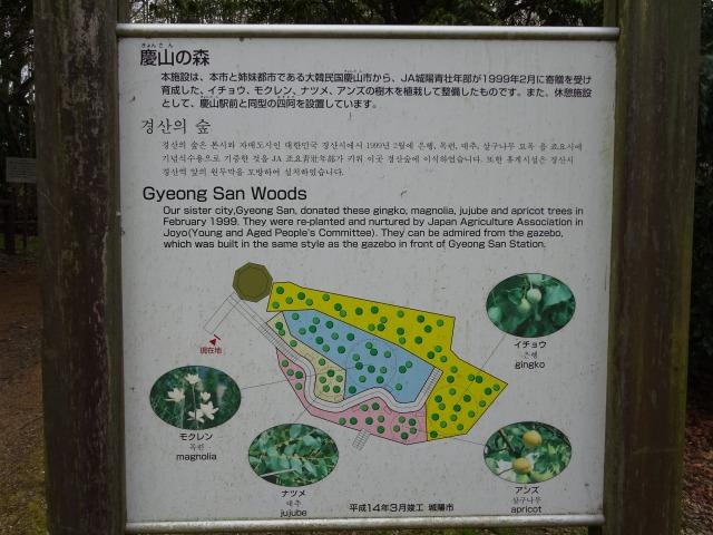 鴻ノ巣山運動公園内の看板