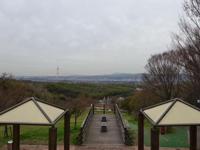 大芝生広場の頂上展望台からの景色