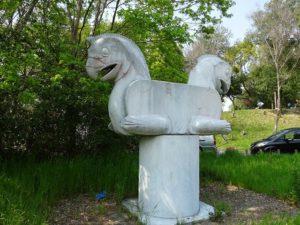 まほろば健康パークのシルクロード博の馬の象