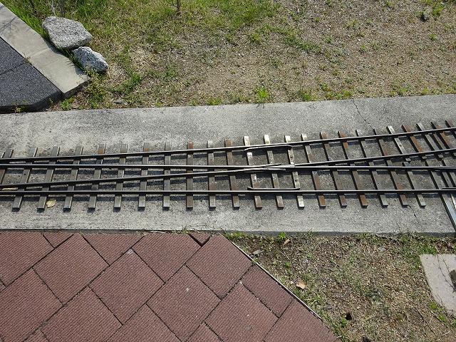 まほろばファミリー鉄道ポイント切り替えレール