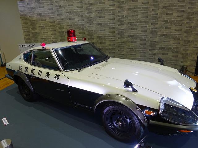 展示ゾーン車両展示パトカー