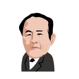 渋沢栄一のイラスト