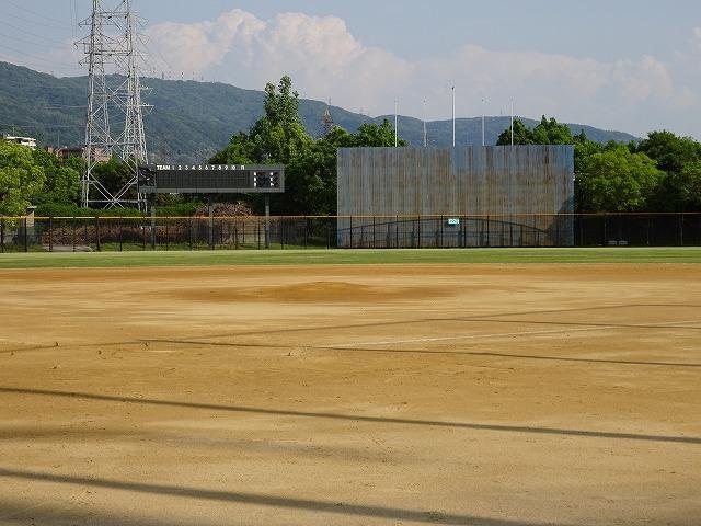 深北緑地のスポーツ施設軟式野球場