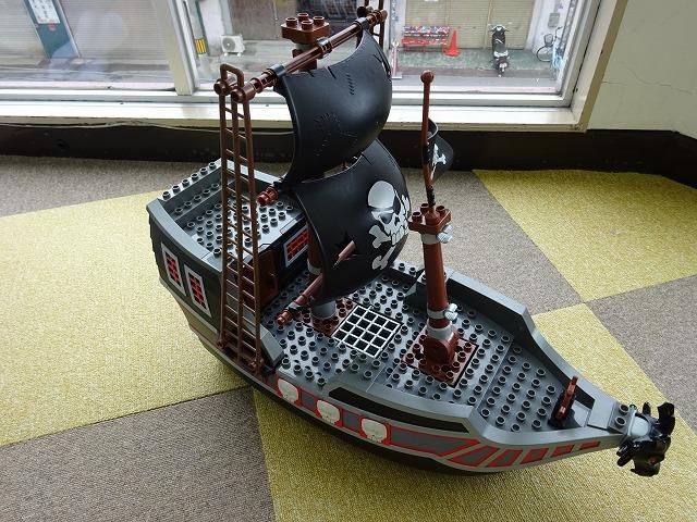 デュプロブロックでつくった船