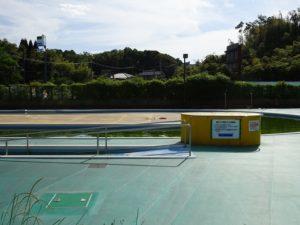 田辺公園プール屋外プール手すり