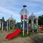 田辺公園こども広場の多目的遊具