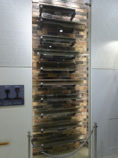 SANZEN-HIROBAレールの展示