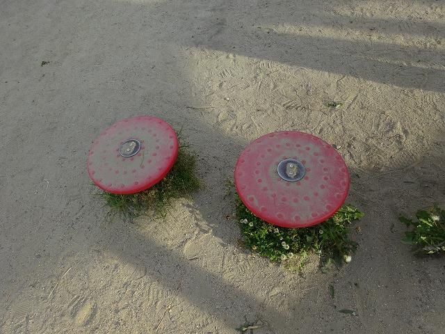 八幡市民スポーツ公園のちびっこ広場の遊具ステップ