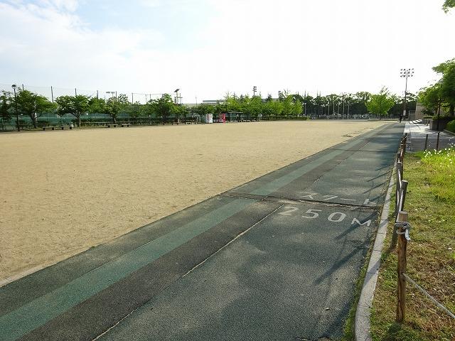 八幡市民スポーツ公園のグラウンドのプラザ