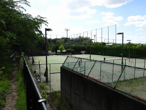田辺公園のテニスコート