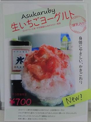 奈良の氷屋ヒノデさんのかき氷生いちごヨーグルト