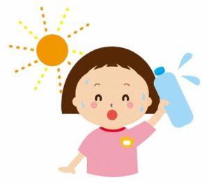 熱中症予防を呼びかける子供