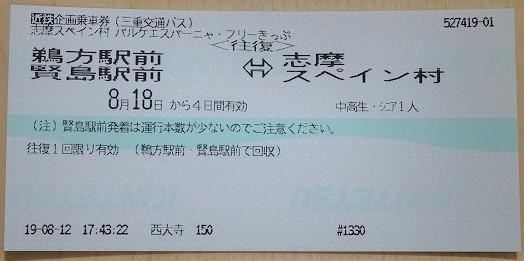 パルケエスパーニャ・フリーきっぷ バス