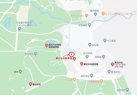 春日大社 駐車場地図