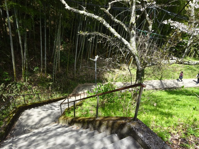談山神社徒歩入口の階段