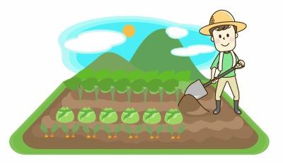 農業する男性