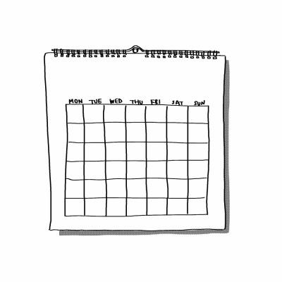 暦のイラスト