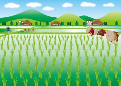 田植えのイラスト