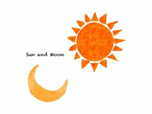 太陰太陽暦のイメージイラスト