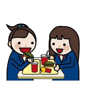 女子高生とジュース