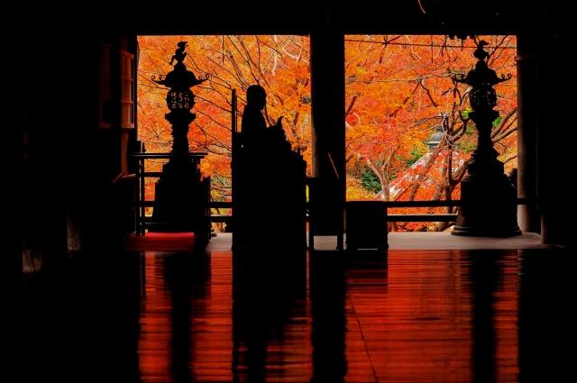 奈良の長谷寺の紅葉の見頃