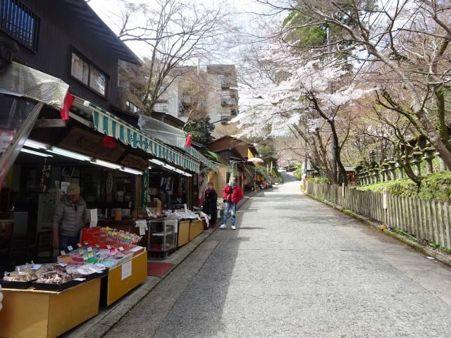 談山神社の参道のお土産屋