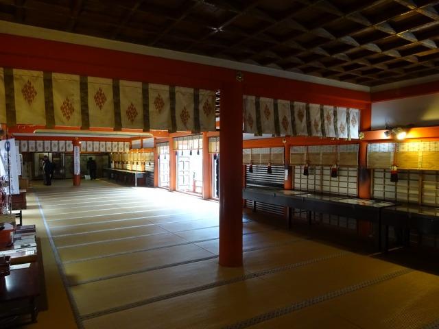 談山神社拝殿内