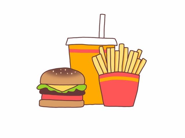 ハンバーガーセットのイラストイメージ