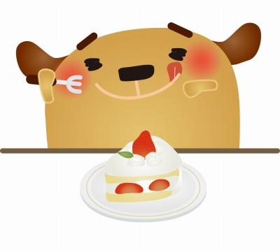 生クリームがたっぷりショートケーキ