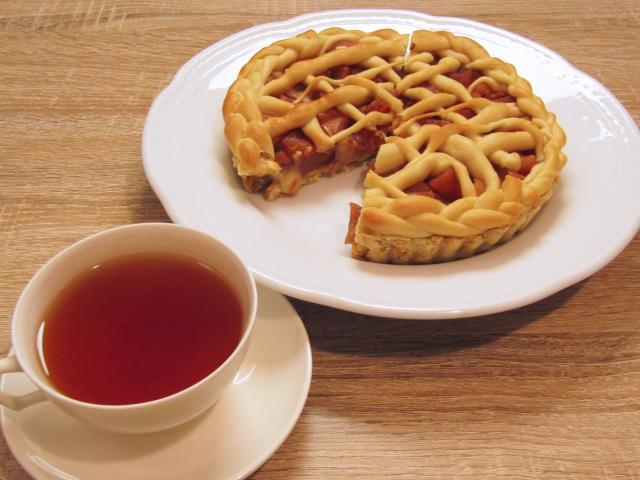 紅茶とりんごパイ